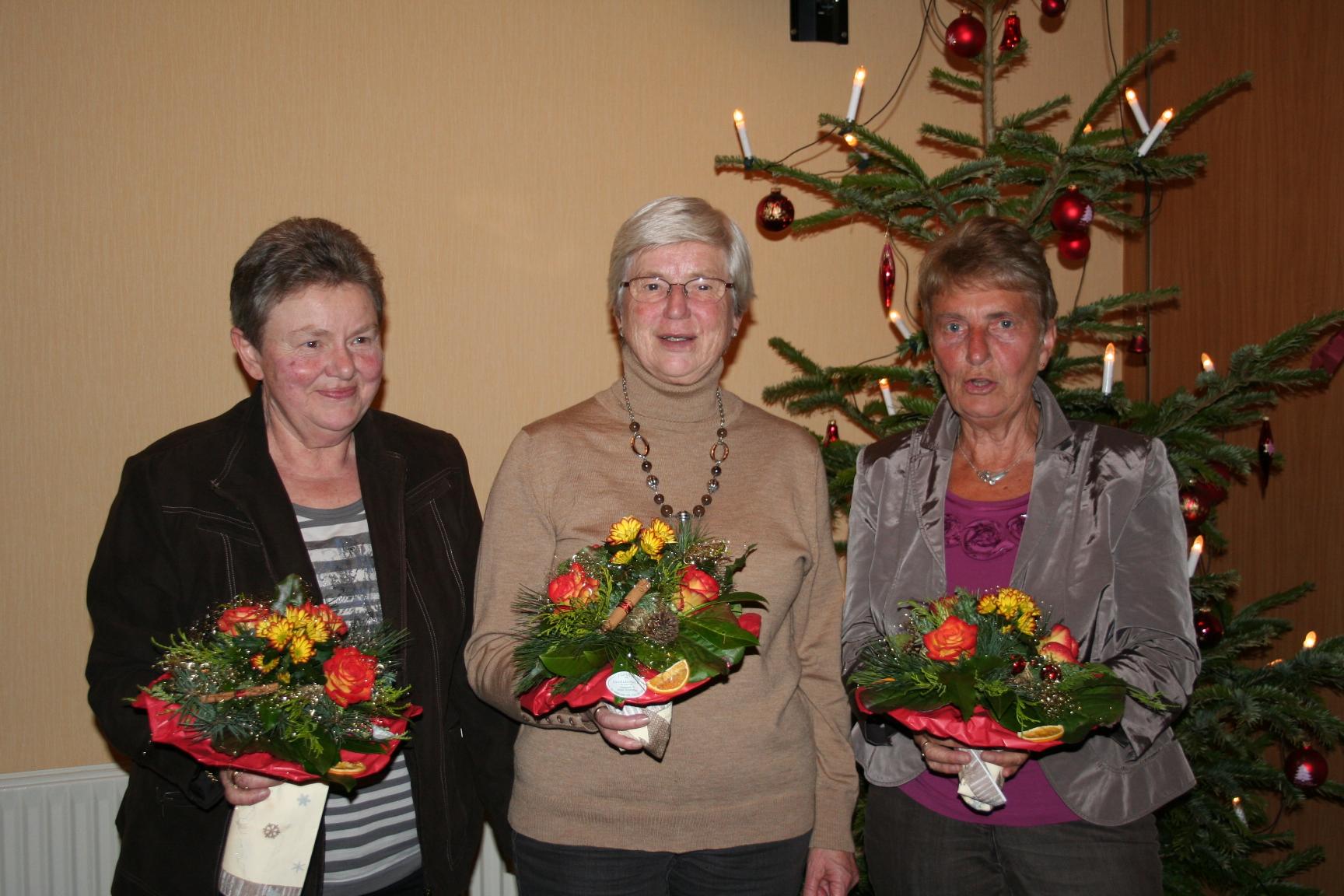 50+  Else Ehlers, Annegret Seidel, Gunda Kollai