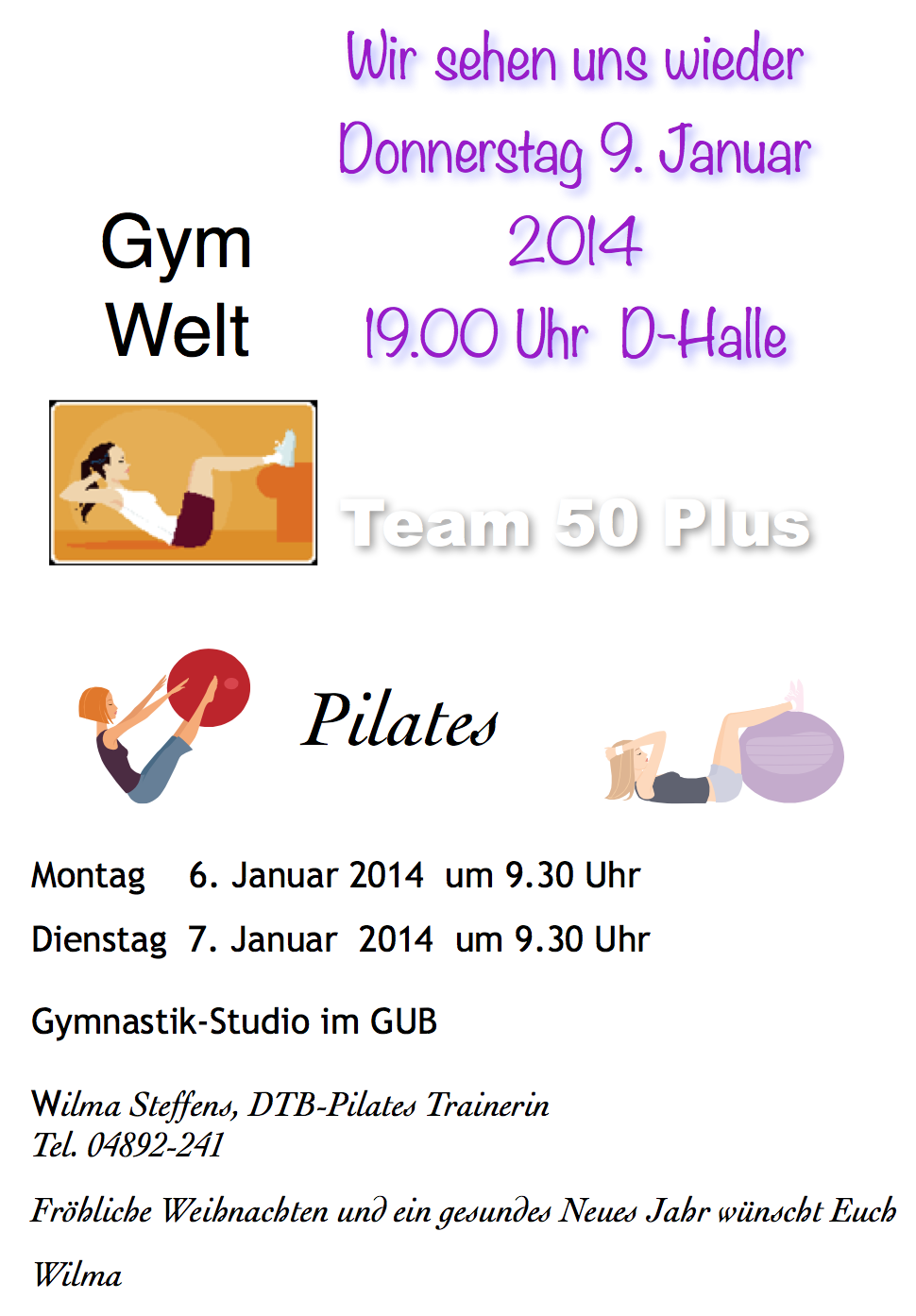 Fitness 50+ Start 2014 neu