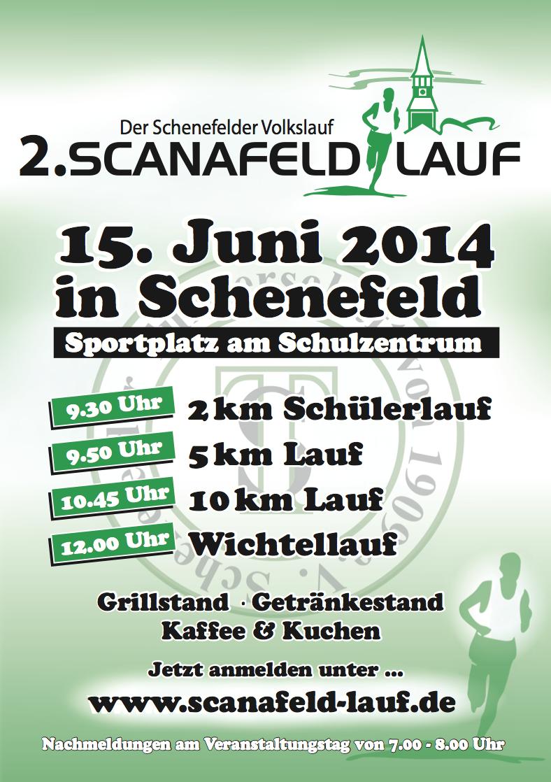 Scanafeldlauf 2014 flyer